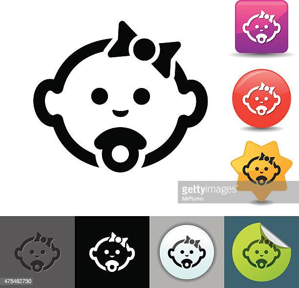 Baby with pacifier icon | solicosi series