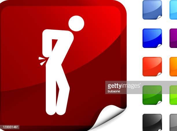 illustrations, cliparts, dessins animés et icônes de douleurs dorsales internet vectorielles libres de droits - mal de dos