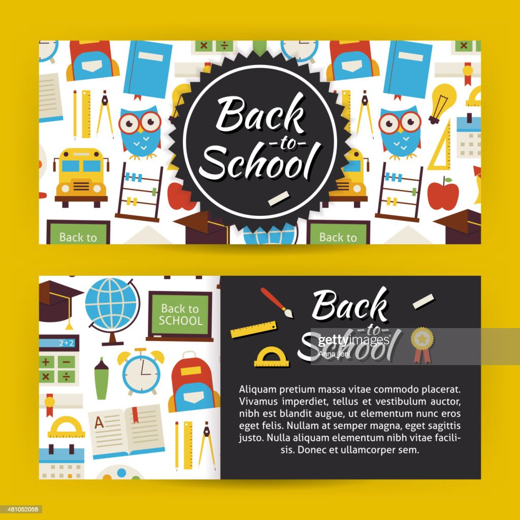 Back to School and Education Modern Flat Style Vector Template