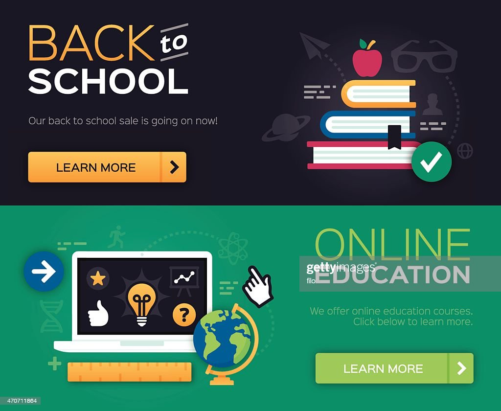 Back to School and Online Education : stock illustration