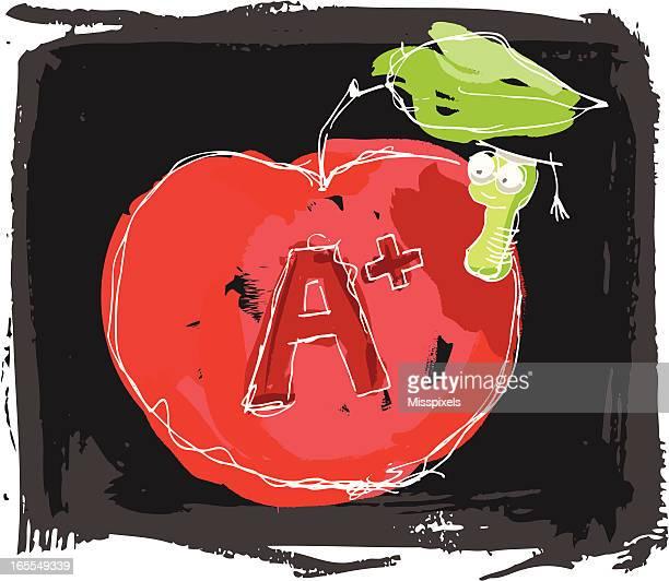 illustrations, cliparts, dessins animés et icônes de retour à l'école avec apple - première rentrée scolaire