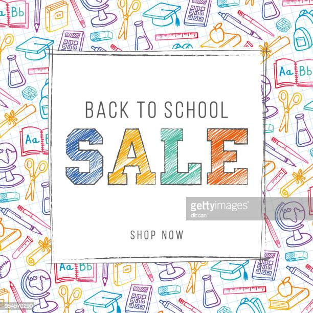 Back To School Background for advertising, banners, leaflets and flyers