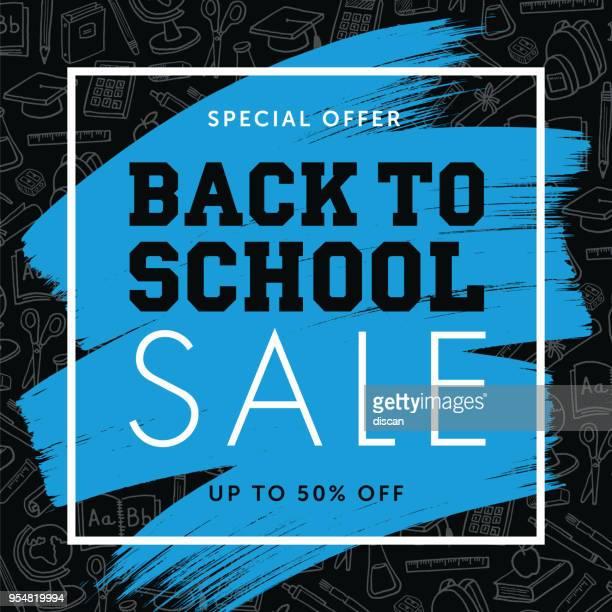 ilustrações de stock, clip art, desenhos animados e ícones de back to school background for advertising, banners, leaflets and flyers - consumerism