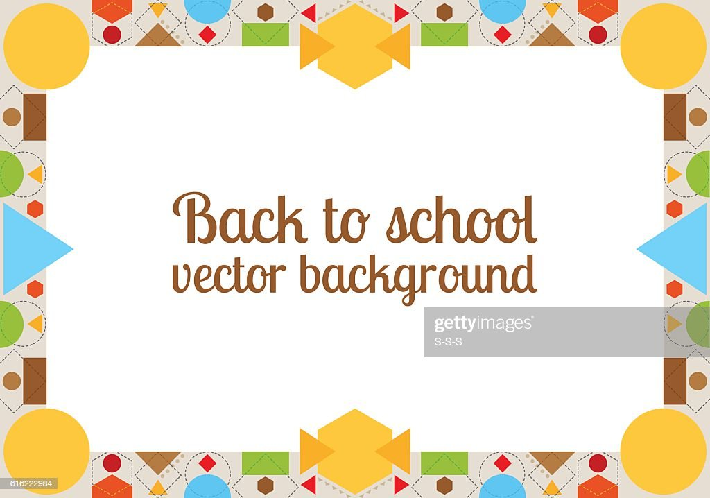 Back to school background with frame : Clipart vectoriel
