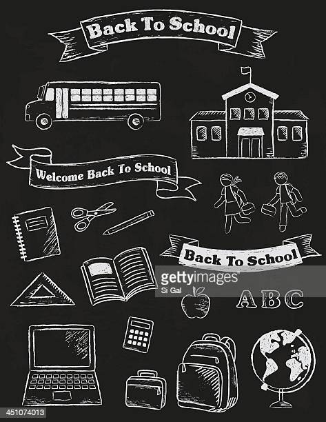 Back To School Banners and Elements