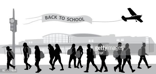 ilustrações de stock, clip art, desenhos animados e ícones de back to school blues - jovem adulto