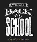 Back to school. Chalk lettering