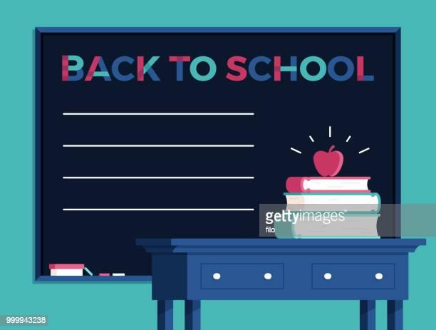Zurück zu Schule Tafel Hintergrund