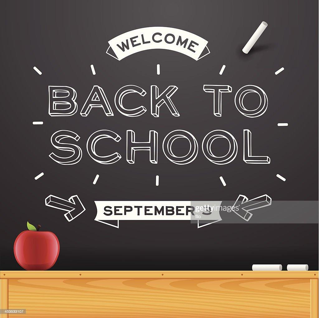 Back to School Chalkboard Message