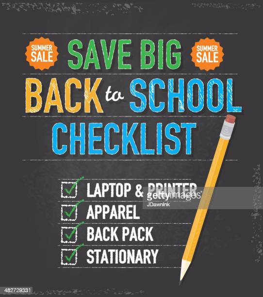 Back to school checklist design template