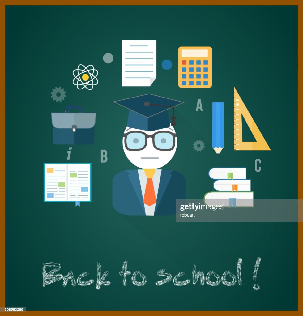 Zurück zu Schule Konzept : Vektorgrafik