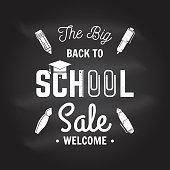 Back to School design on the chalkboard