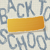 Back to school. Education themed abstract background, vector ill