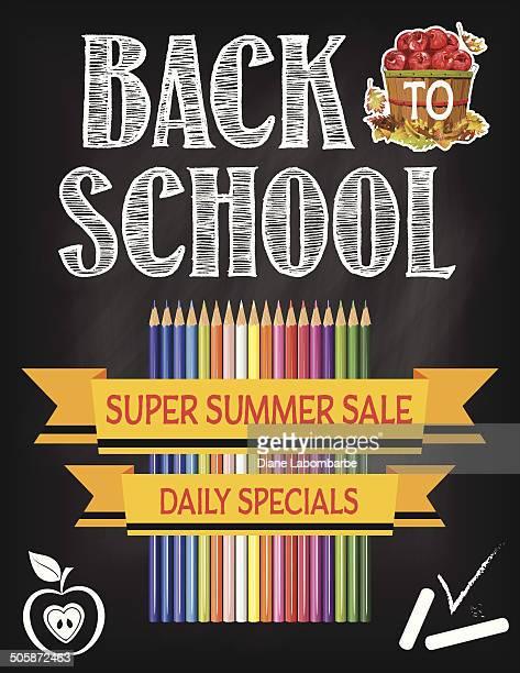 Back To School Fall Sale Blackboard