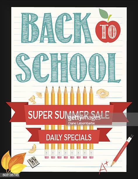Back To School Fall Sale Lined Paper