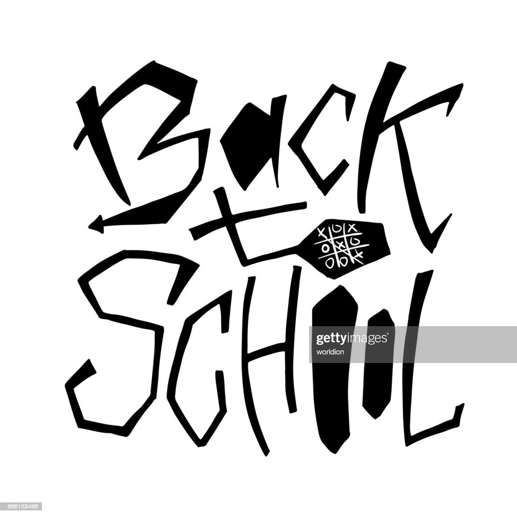 Back to school isolated text lettering design for icon greeting lettering design for icon greeting cards invitations m4hsunfo