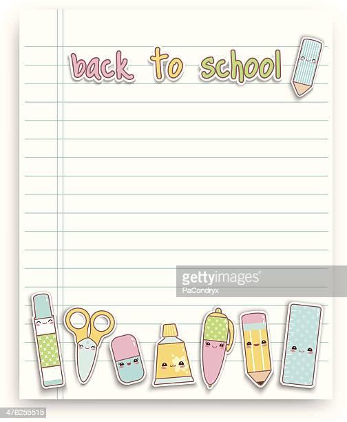 Back to school kawaii blackboard