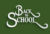 Back to School lettering Greeting Card