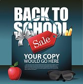 Back to School marketing background