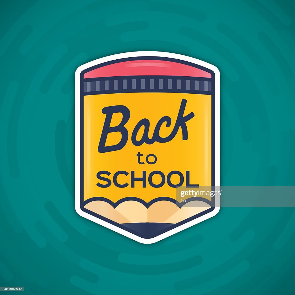 Back to School Message : Stock Illustration