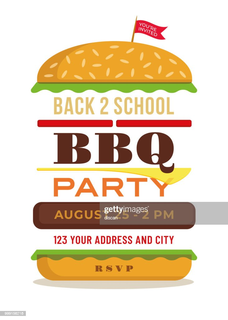 Back to school party invitation template vector art getty images back to school party invitation template vector art stopboris Images