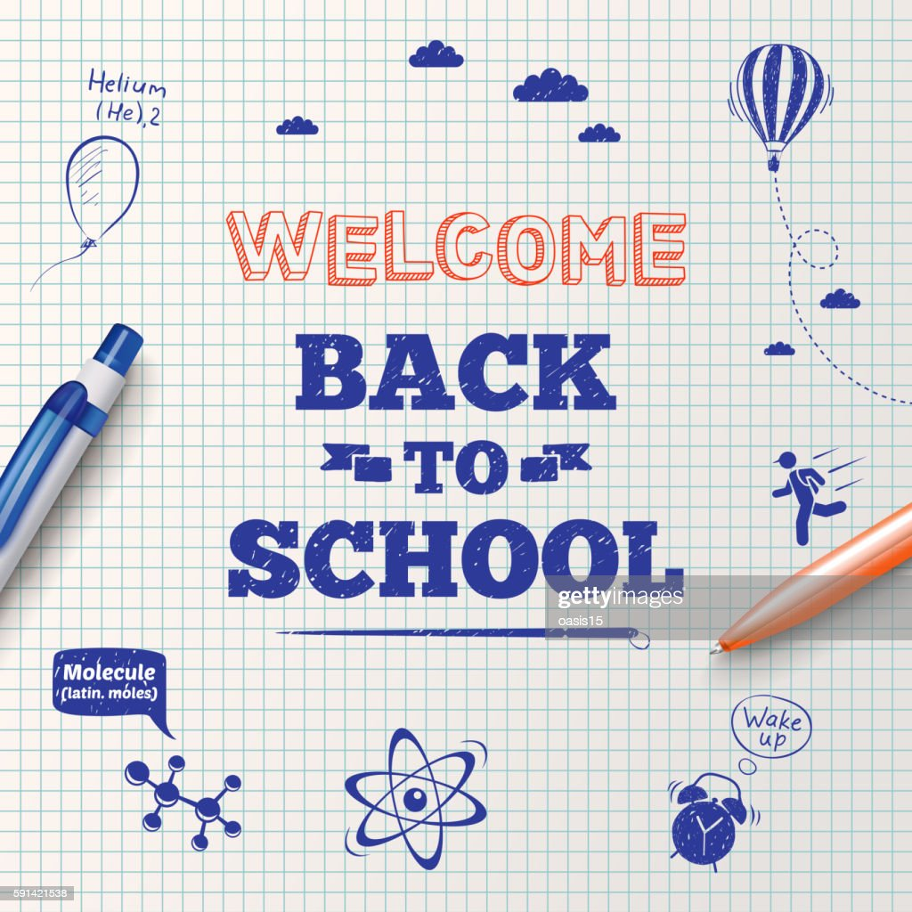 Back to school poster, education background.