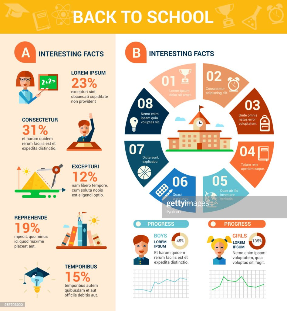 Back to school poster flat design tempalte