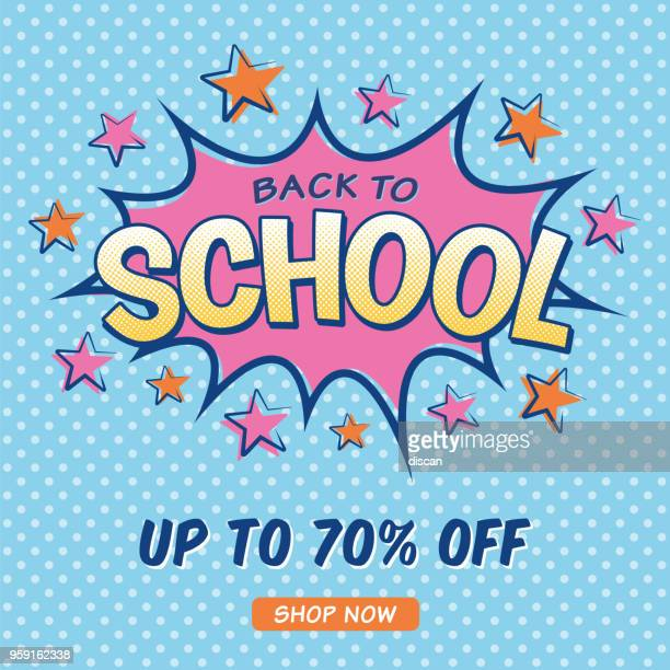 Back to School Sale design for advertising, banners, leaflets and flyers