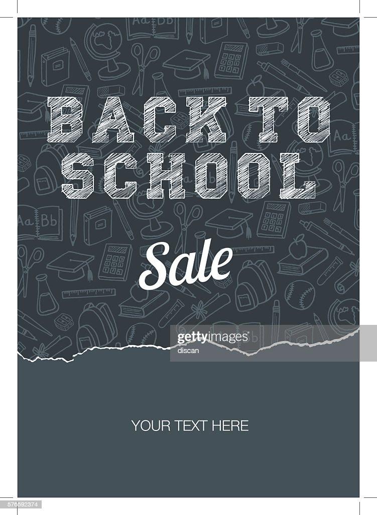 Back to school sale poster : stock illustration