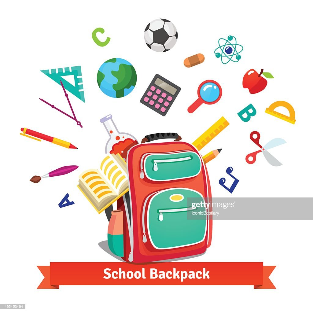 Back to school. Student backpack
