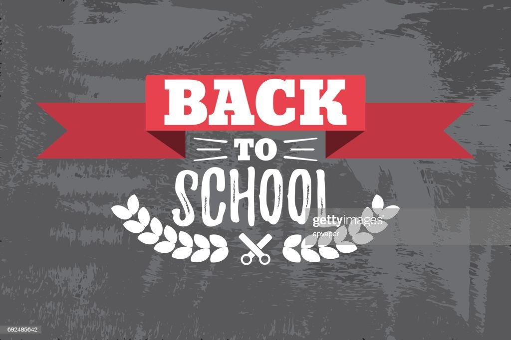 Back to School Typographic - Vintage Style Back to School.