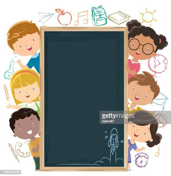 illustrations, cliparts, dessins animés et icônes de retour à l'école - établissement scolaire
