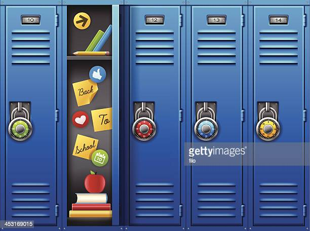 back to school - corridor stock illustrations, clip art, cartoons, & icons