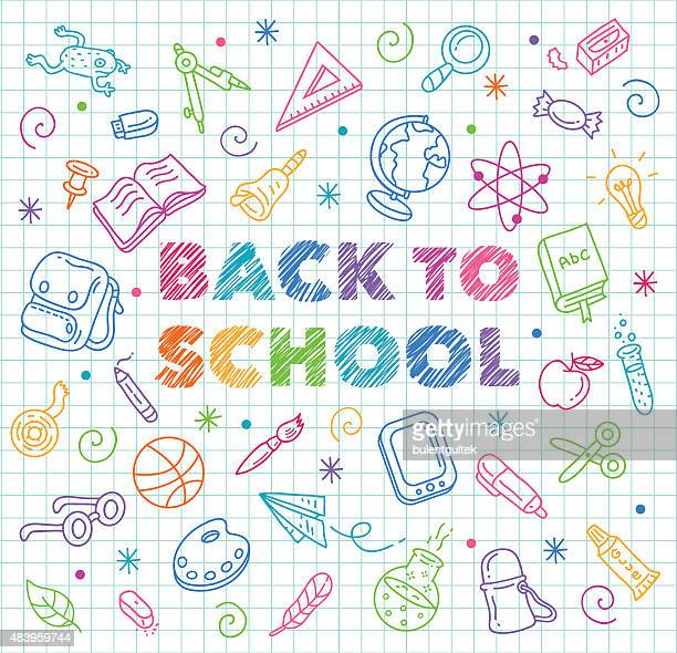 back to school - education stock illustrations