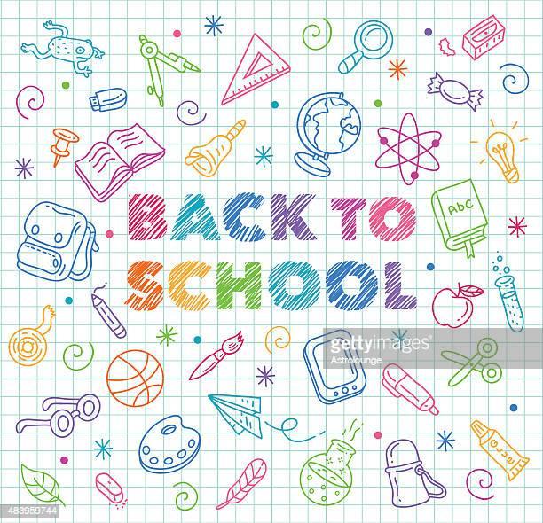ilustrações de stock, clip art, desenhos animados e ícones de regresso às aulas - optical art