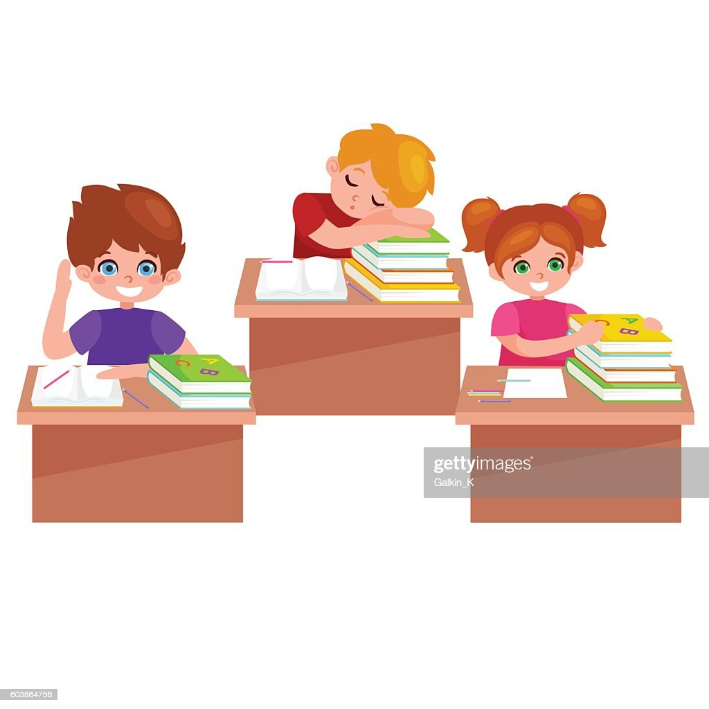 Back to school.Cute School Children isolated