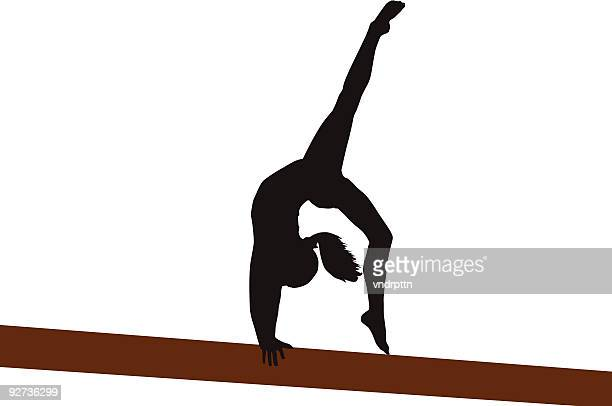 back walkover - gymnastics stock illustrations, clip art, cartoons, & icons