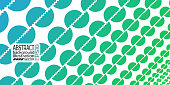 Background abstract geometric blue-green of circles and lines vector lines