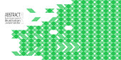 Background abstract geometric green of rhombuses triangles and stripes vector