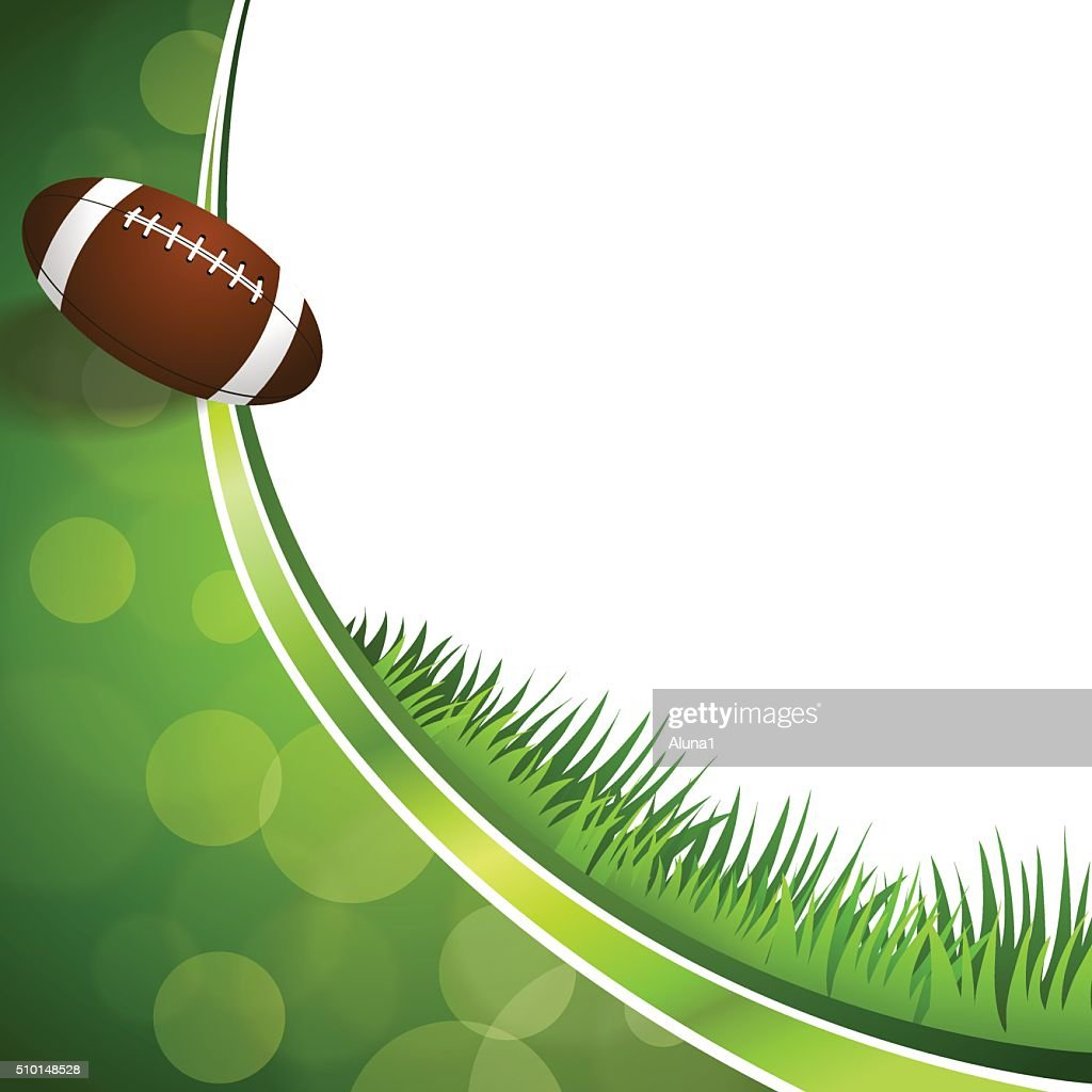 Background abstract green American football ball illustration vector