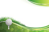 Background abstract green golf sport white ball illustration vector