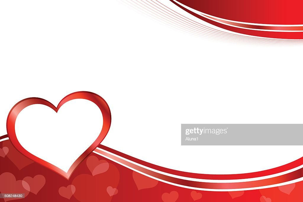 Background abstract red heart frame illustration vector