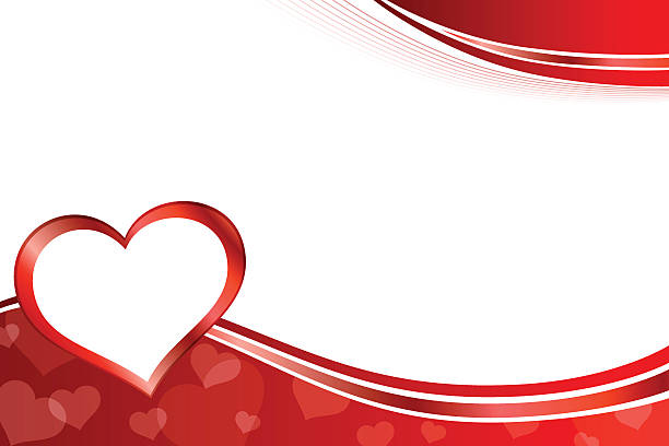 background abstract red heart frame illustration vector - Heart Frame