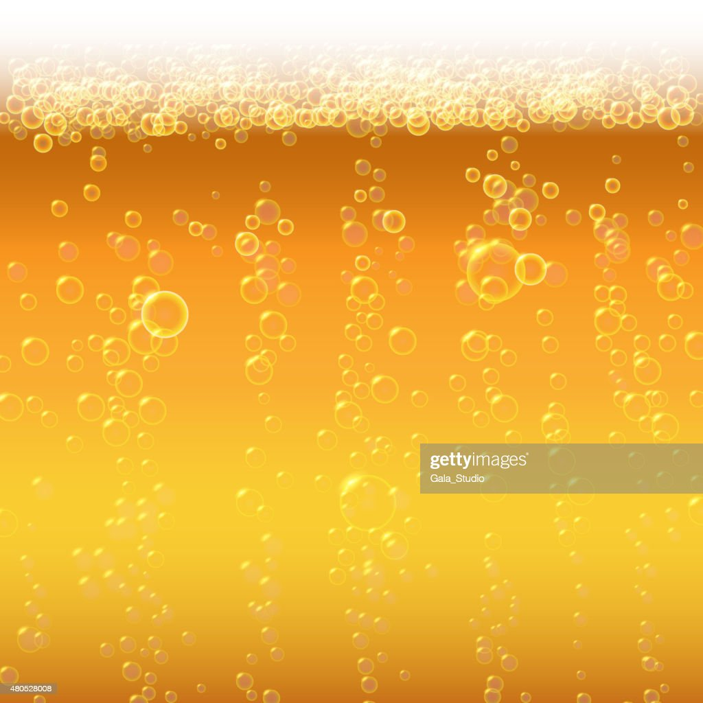 Background beer with foam and bubbles. : Vector Art