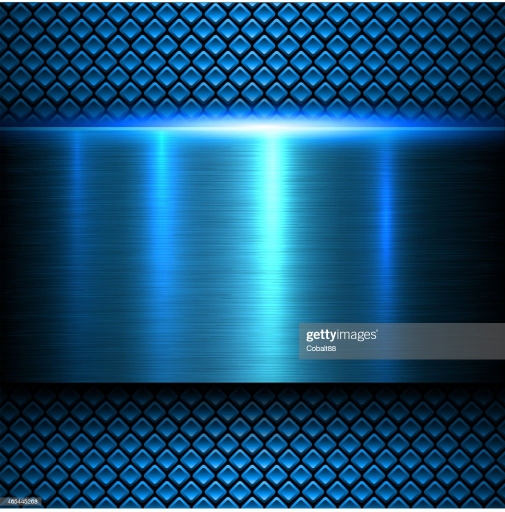 Background blue metal texture