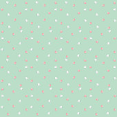 Background by many hearts vector icon, Pink and white heart on the green background