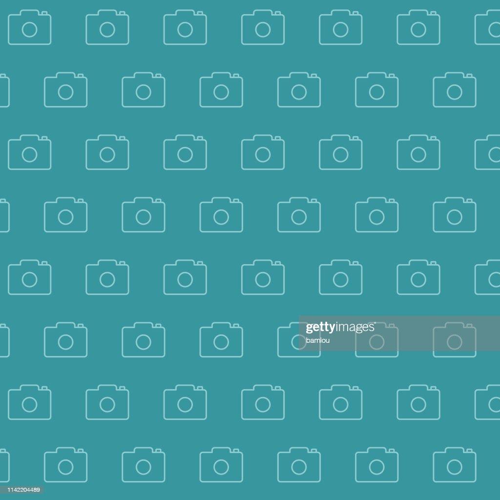Background Camera Seamless Pattern