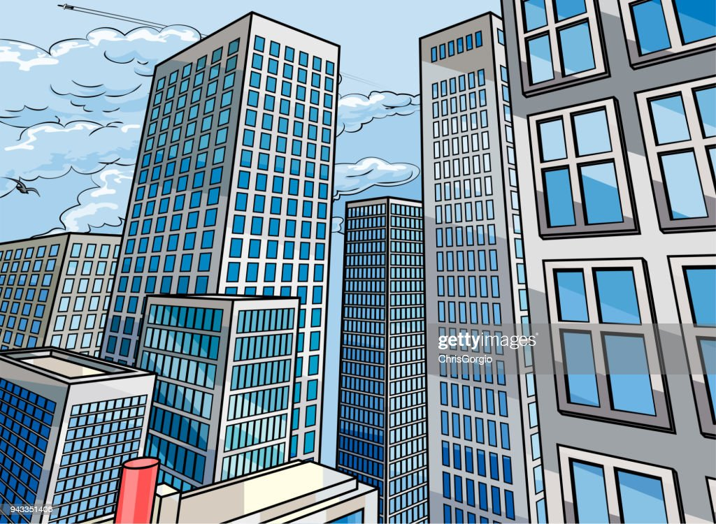 Background City Buildings Scene