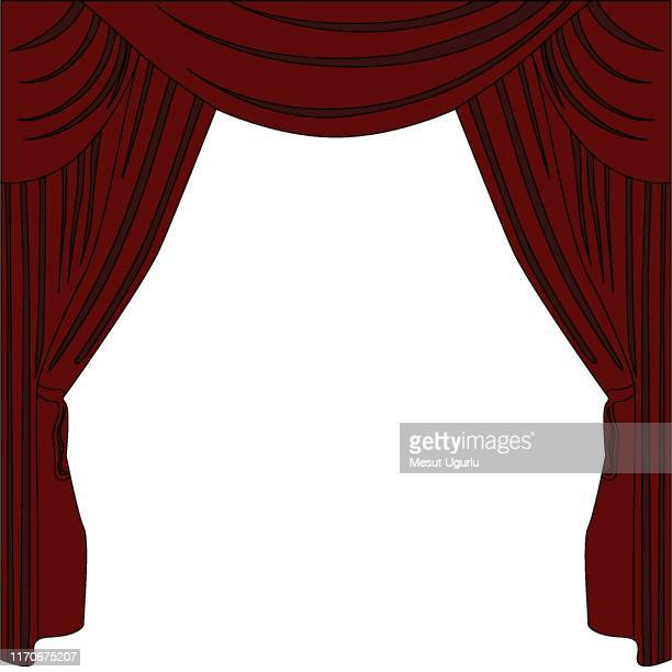 background curtain stage. - cabaret stock illustrations