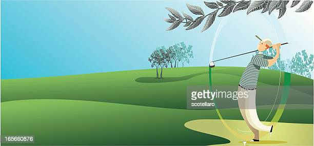 background de golf - green golf course stock illustrations, clip art, cartoons, & icons